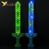 Алмазный меч Майнкрафт светящийся, пиксельный оптом фото 095