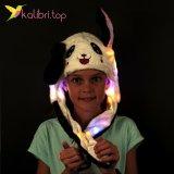 Светящиеся шапка с двигающимися ушами Панда оптом фото 1198