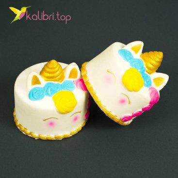 Игрушка сквиш торт Единорог оптом фото 1