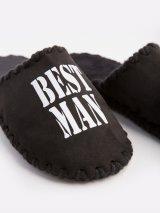 Мужские домашние тапочки Best Man черные закрытые 1, Family Story - 3