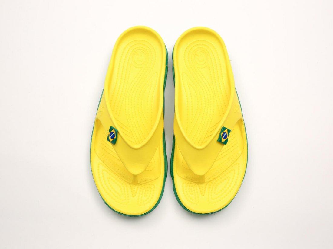 Желтые кроксы вьетнамки оптом C29-45, 4rest, мужская обувь оптом, фото 2