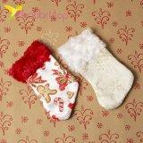 Рождественский декоративный носок маленький оптом фото 1145
