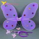 Карнавальные крылья бабочки фиолетовый оптом фото 541