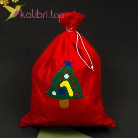 Мешок для подарков средний микс, оптом фото 1