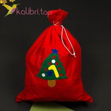 Мешок Деда Мороза для новогодних подарков оптом фото 1