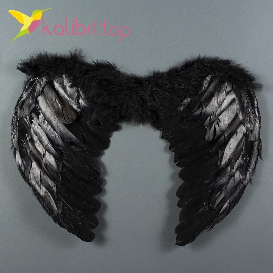 Крылья ангела с пухом черные оптом фото 888