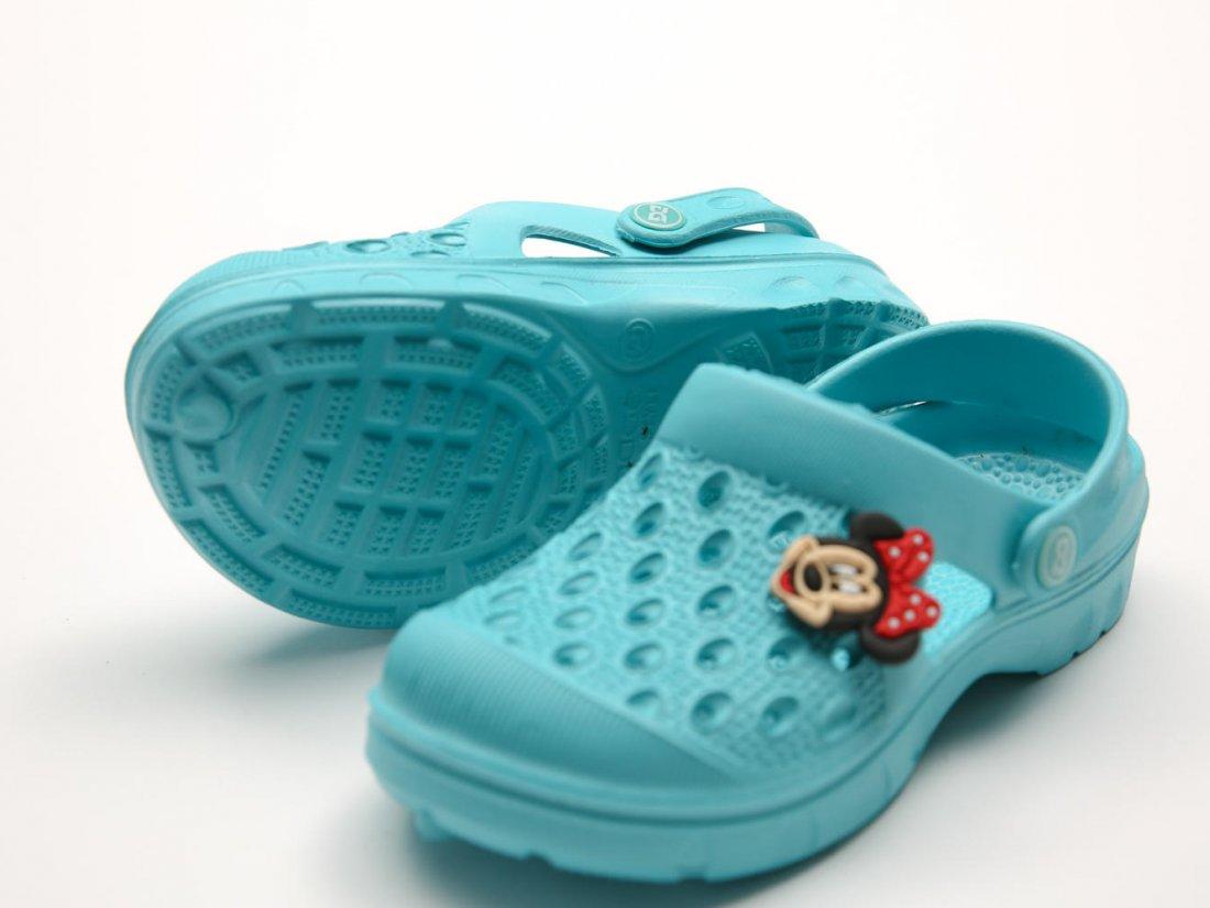 Голубые кроксы оптом C11-34, 4rest, детская обувь оптом, фото 1