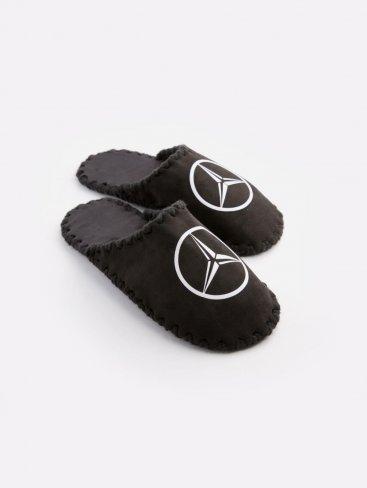 Мужские домашние тапочки Mercedes черные закрытые, Family Story - 1