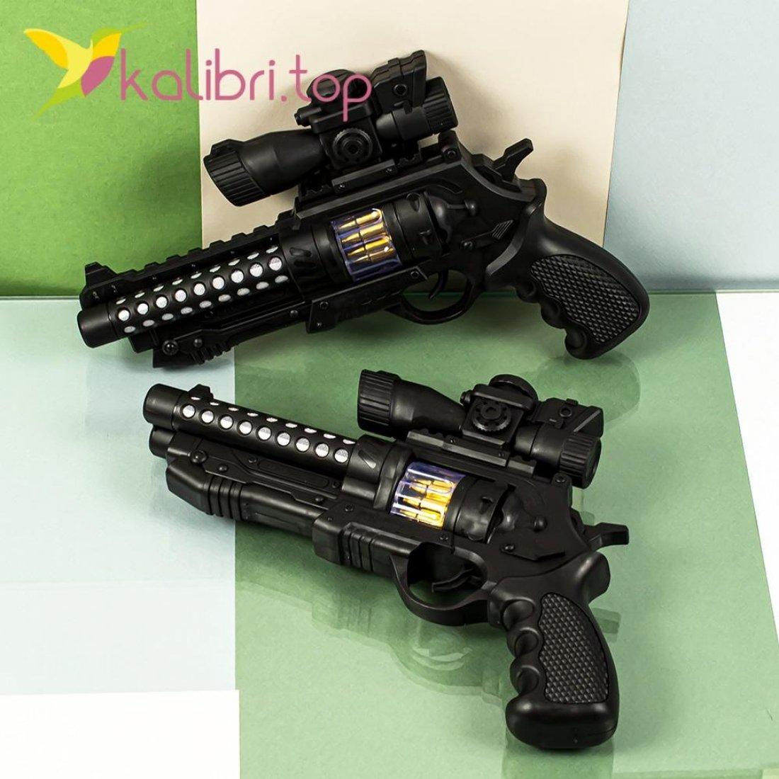 Игрушечный пистолет светящийся, звуковой двойной оптом фото 3