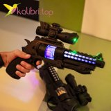Игрушечный пистолет светящийся, звуковой двойной оптом фото 0147
