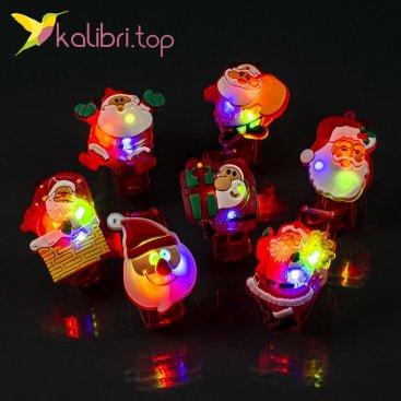 Новогодние светящиеся браслеты Деды Морозы оптом фото 1174