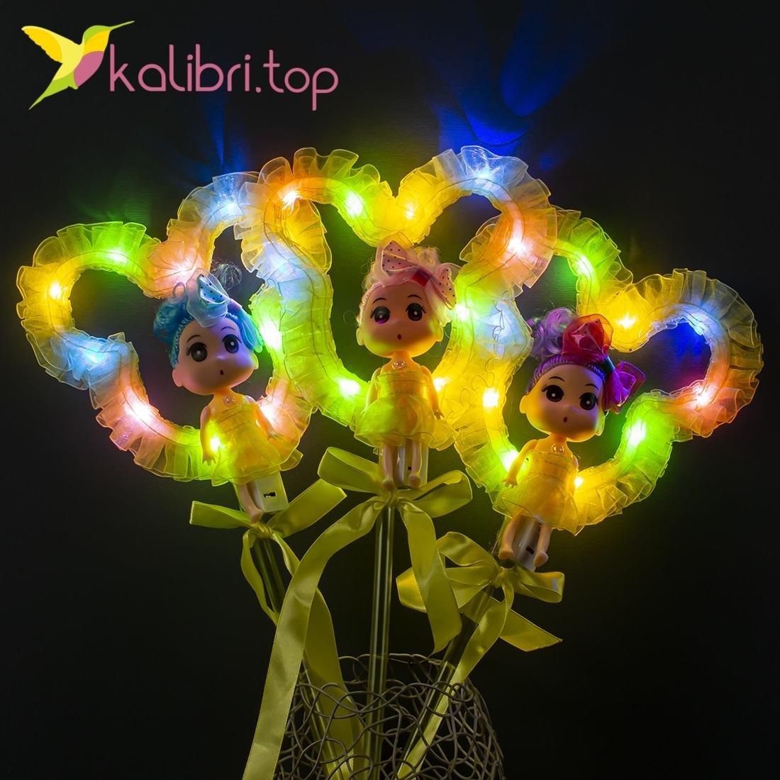 Светящиеся палочки куколки желтые оптом фото 671