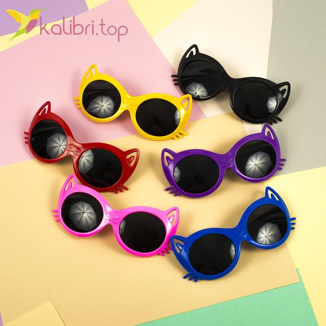 Детские солнцезащитные очки Котики - Kalibri.top