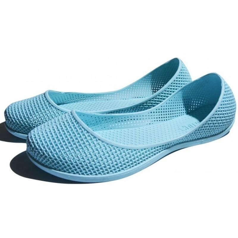 Женские балетки оптом 1319 ПВХ светло-голубые, 4rest, обувь оптом