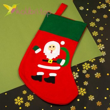 Носок для подарков большой Никос, оптом фото 1