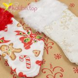Рождественский декоративный носок маленький оптом фото 927