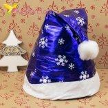 Шапки Деда Мороза синяя HQ-1648 оптом фото 8755