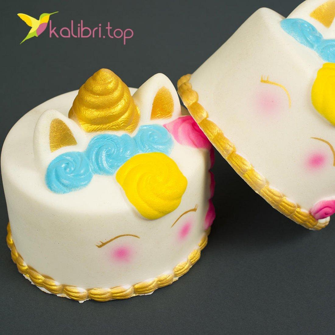 Игрушка сквиш торт Единорог оптом фото 2