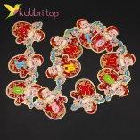 Растяжка бумажная Дед Мороз 3-D оптом фото 745
