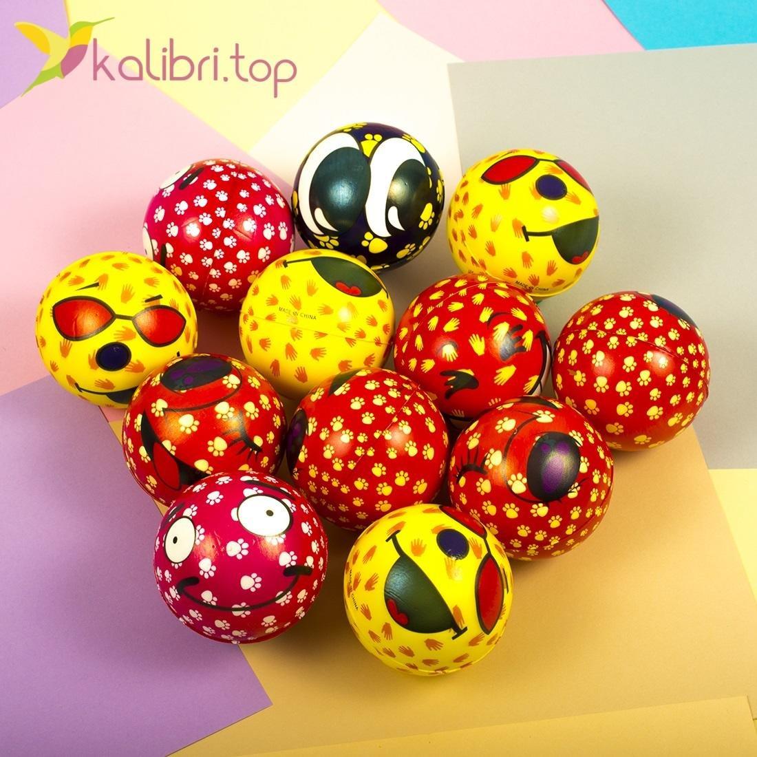 Мячики мягкие, поролоновые Лапки, оптом - фото 1