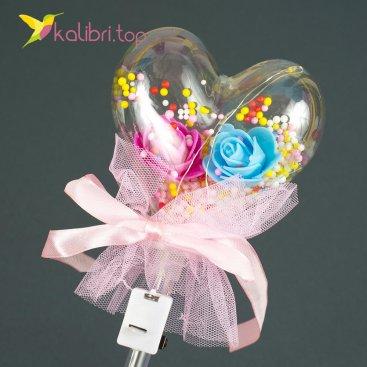 Светящиеся палочка сердечко розовое оптом фото 1