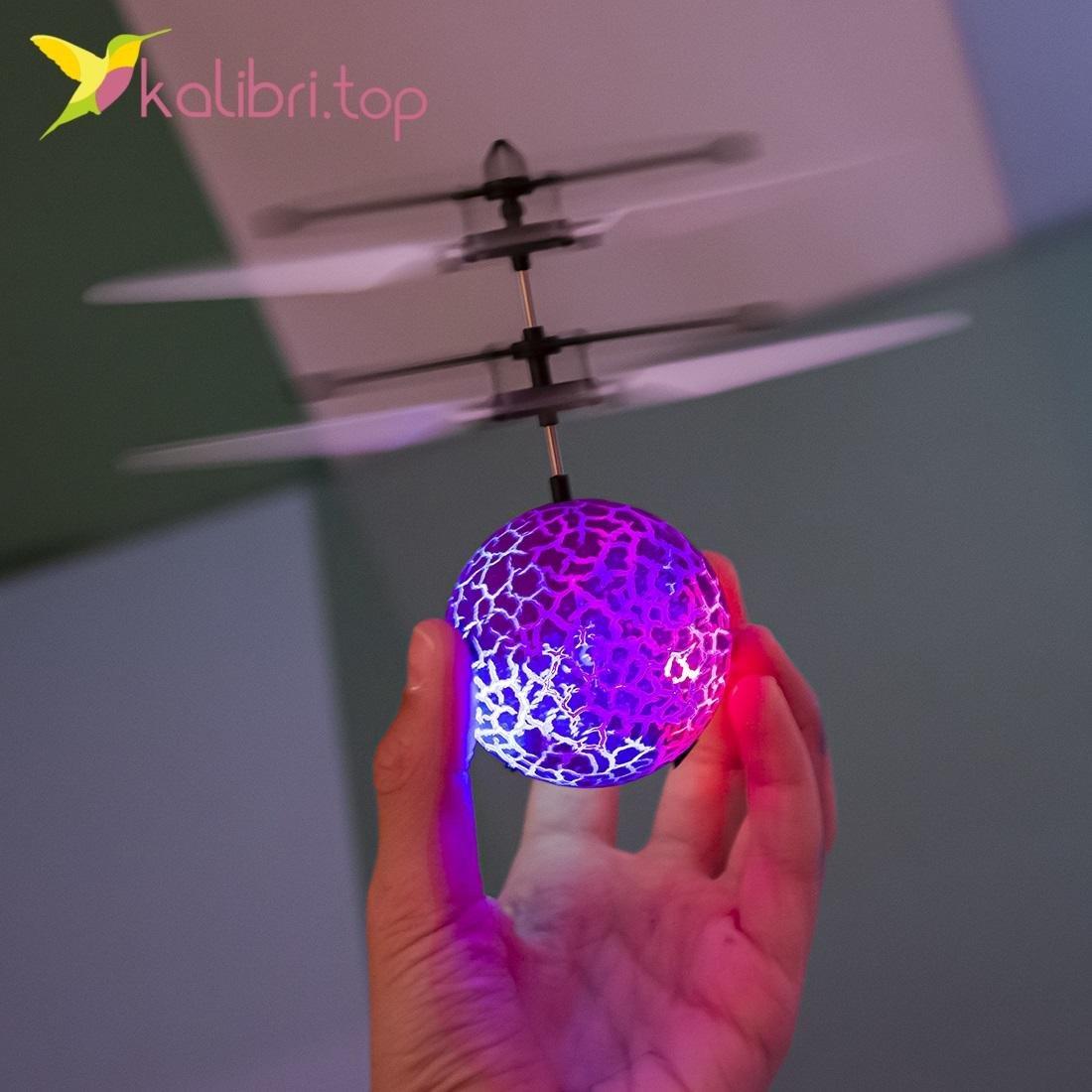 Сенсорный светящийся шар Flying Ball фиолетовый оптом фото 7477