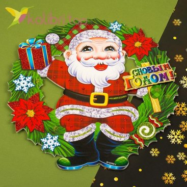 Новогодние украшения для окон, дверей С Новым Годом из пенопласта, оптом фото 1