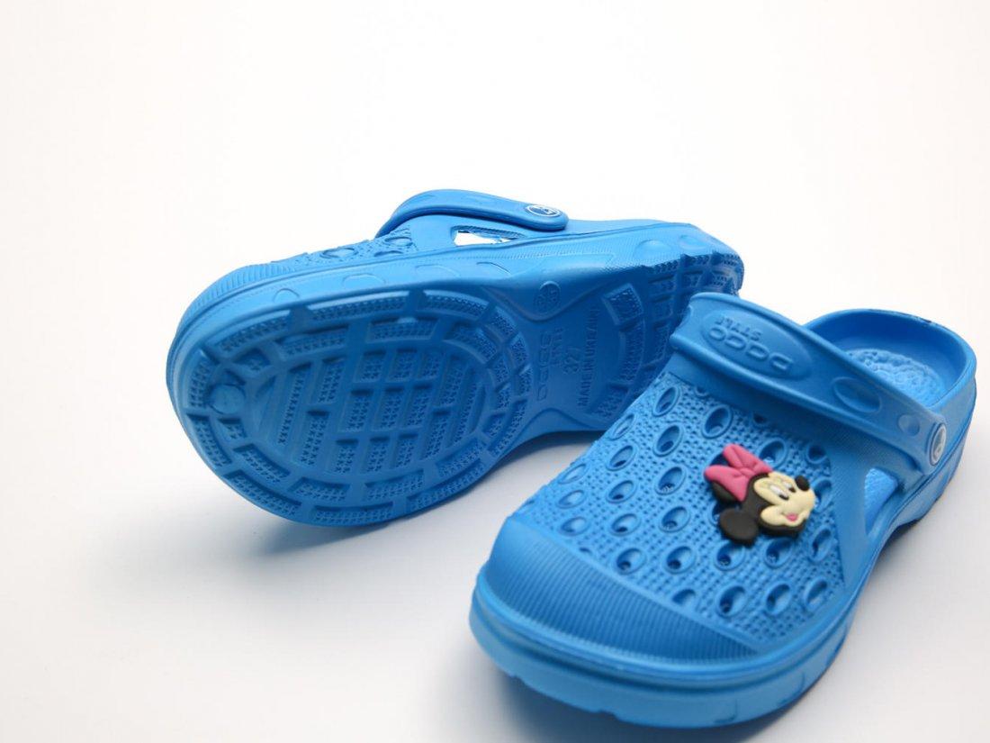 Голубые кроксы оптом C13-34, 4rest, детская обувь оптом, фото 3