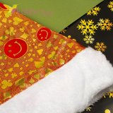 Новогодняя шапка Деда Мороза смайлы, оптом фото 2