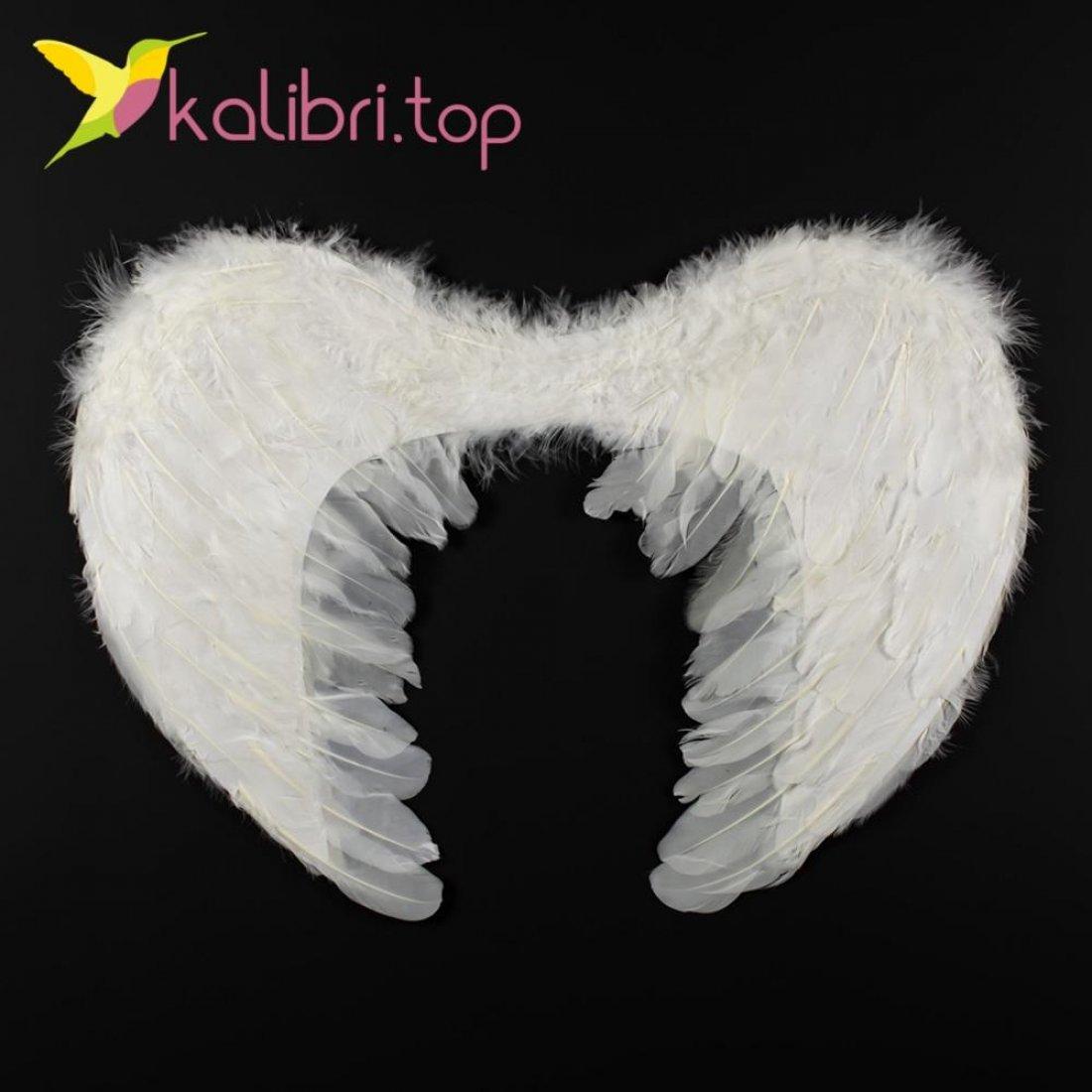 Крылья ангела с пухом 16746-21-4 белые оптом фото 741