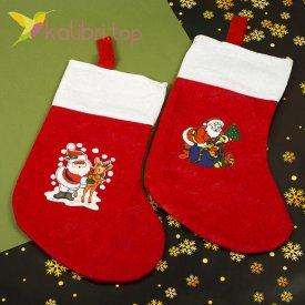 Носок для подарков большой микс 7, оптом фото 1