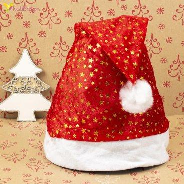 Новогодние шапки Деда Мороза звезды HQ-1505 оптом фото 1855