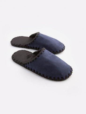Мужские домашние тапочки темно-синие закрытые, Family Story - 1