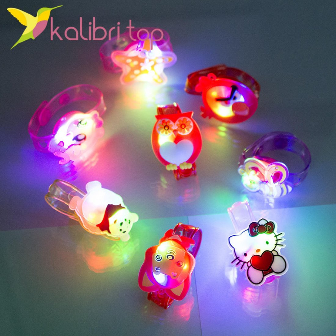 Детские светящиеся браслеты Микс оптом фото 2