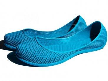 Женские балетки оптом 0219 ПВХ синие, 4rest, обувь оптом