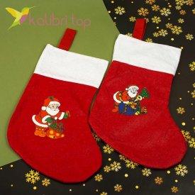 Носок для подарков большой микс 6, оптом фото 1