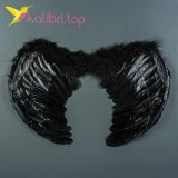 Крылья ангела с пухом 16746-21-4 черные оптом фото 44