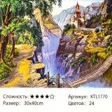 Рисования по номерам Замок 30*40 см оптом фото 022