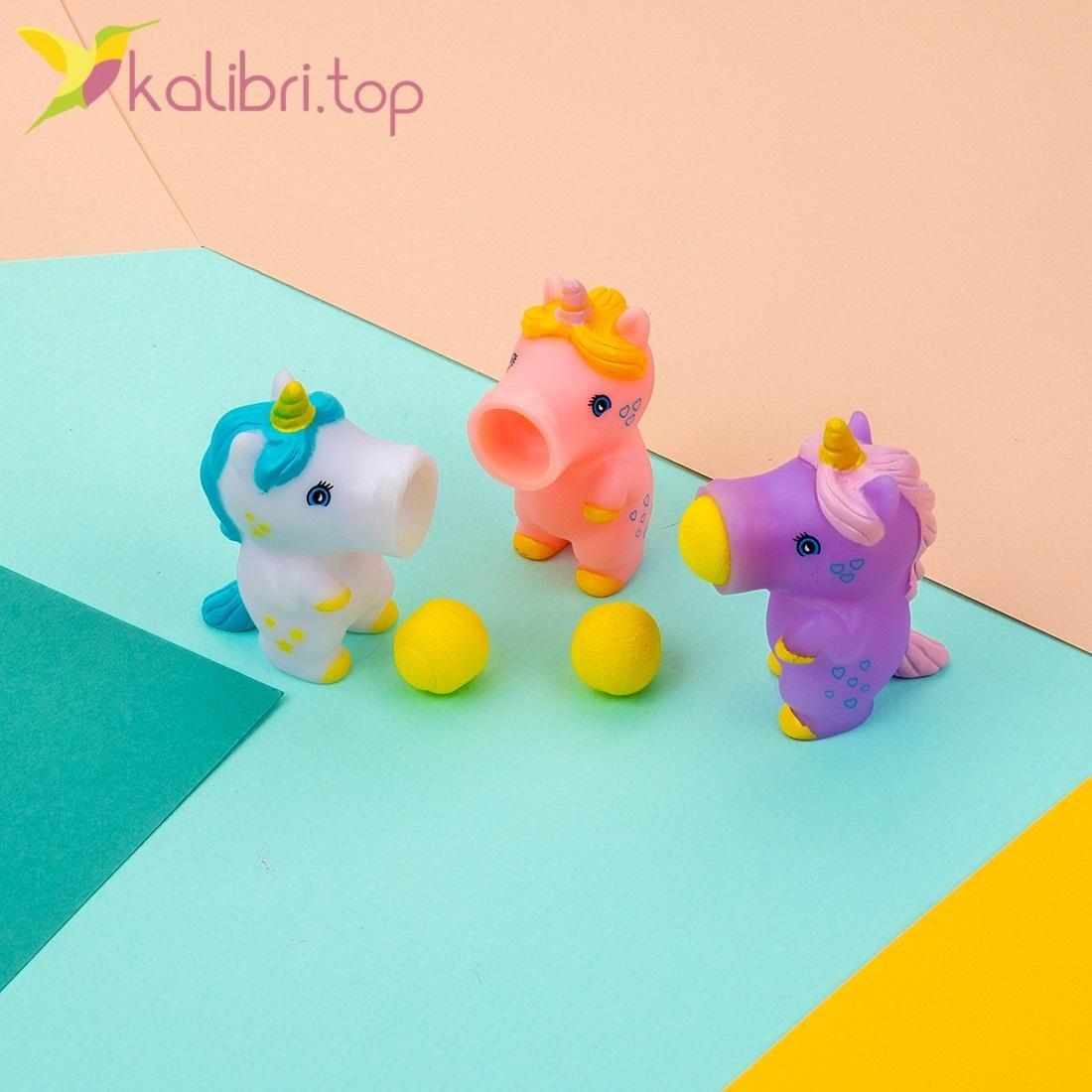 Детская игрушка оптом, стреляющий пони единорог, Калибри