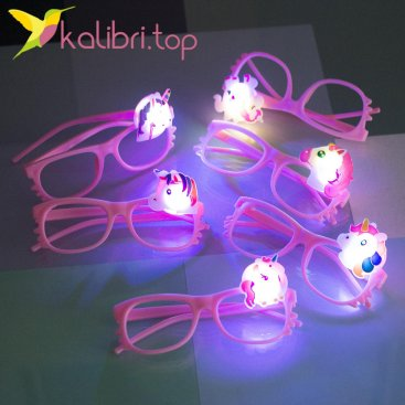 Светящиеся очки Единороги оптом фото 1
