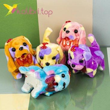 Собачки светящиеся пятнистые цветные оптом фото 3574