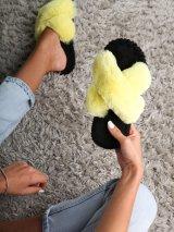 Женские домашние тапочки иксики цвета Лимон, Family Story - 3