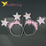 Новогодний обруч звезда розовый оптом фото 41