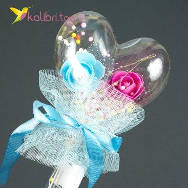 Светящиеся палочка сердечко голубое оптом фото 1