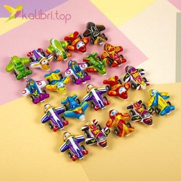 Самолетики инерционные цветные, оптом - фото 1