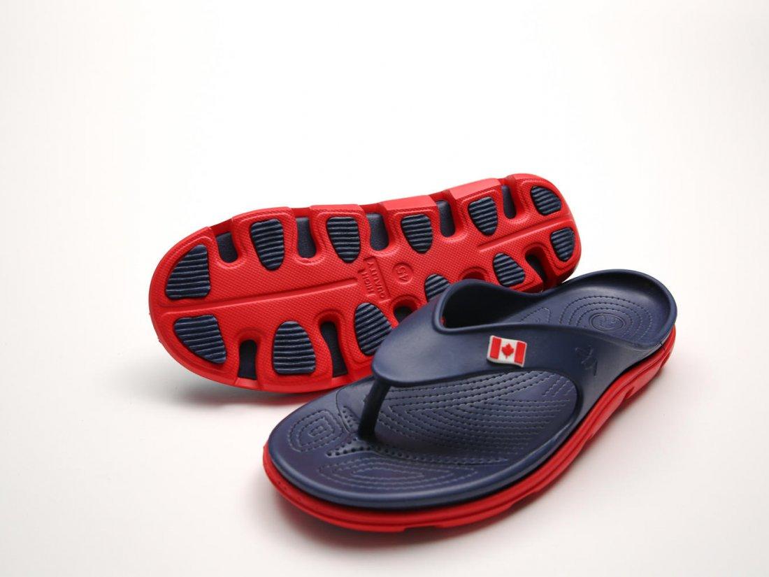 Синие кроксы вьетнамки оптом C30-45, 4rest, мужская обувь оптом, фото 3