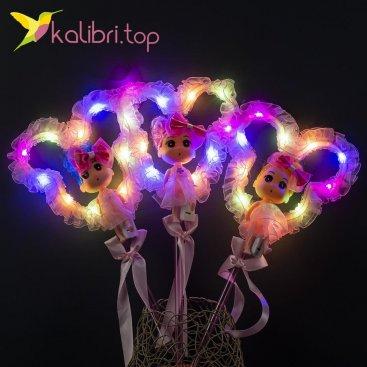 Светящиеся палочки куколки розовые оптом фото 27
