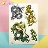 Временные татуировки с блесточками - драконы оптом фото 1
