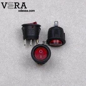 Купить кнопки сетевые для бытовой техники 3 клеммы 1 клавиша 5 А оптом, фотография 1
