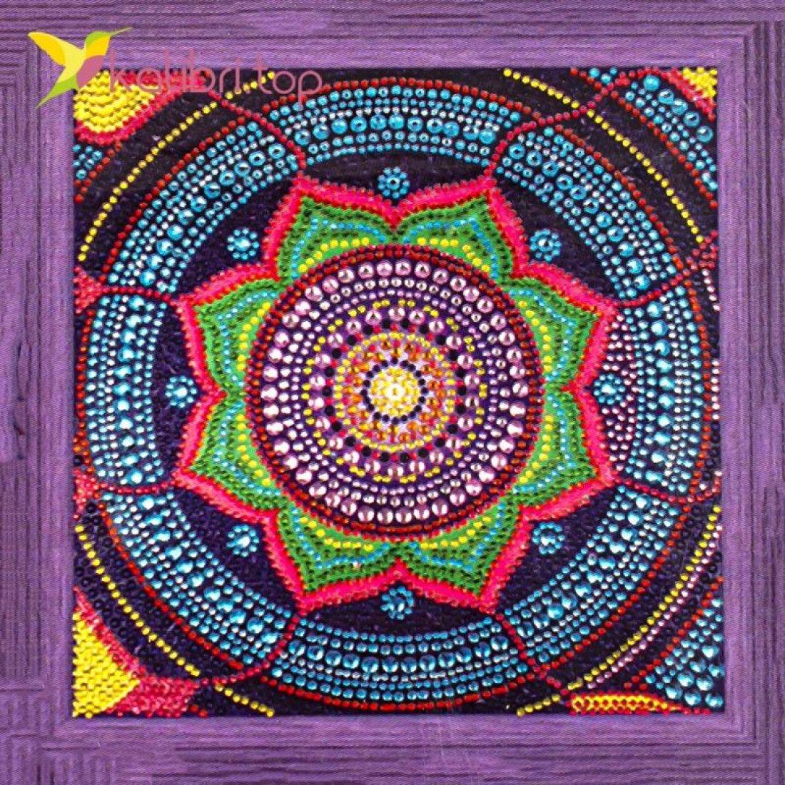 Алмазная мозаика по номерам Орнамент 30*30 см оптом фото 6399
